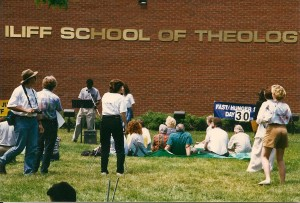 Communion Service on Day 30 of the Hunger Strike at Anders' Seminary, June 1997
