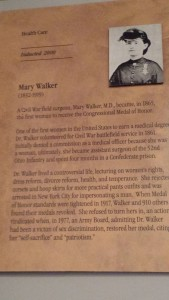 Mary E Walker at Women's Hall of Fame