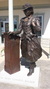 Bronze of Dr. Walker, Oswego Town, NY